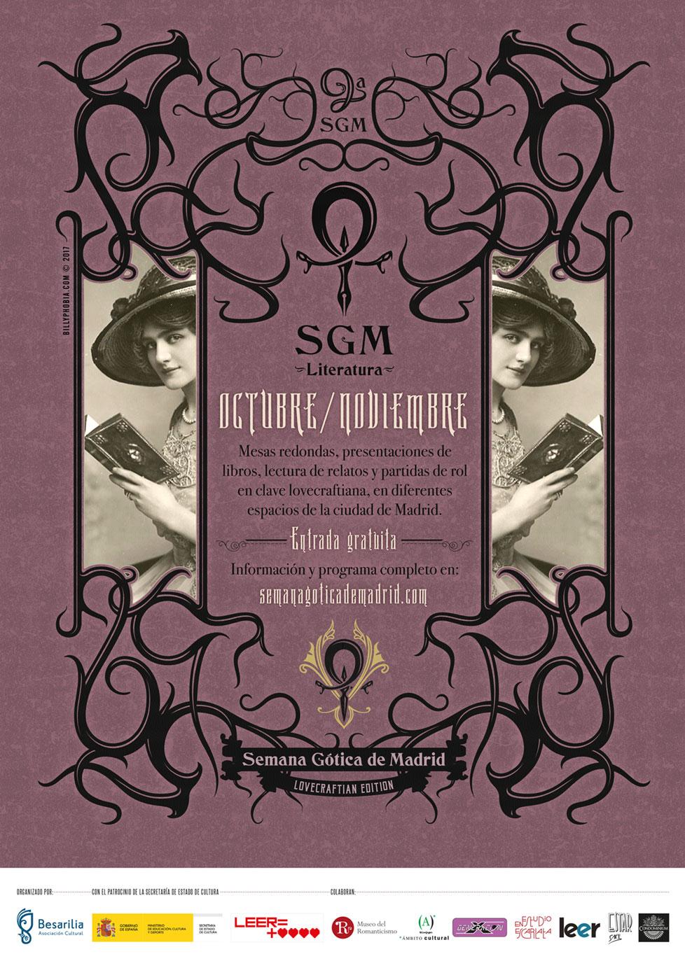 SGM Literatura - 9ª Semana Gótica de Madrid - Cartel de Billyphobia © 2017