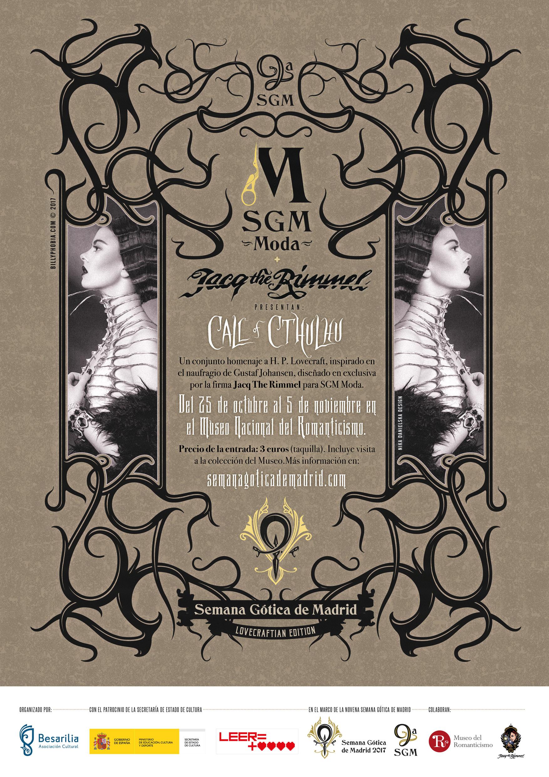 SGM Moda - 9ª Semana Gótica de Madrid - Cartel de Billyphobia © 2017