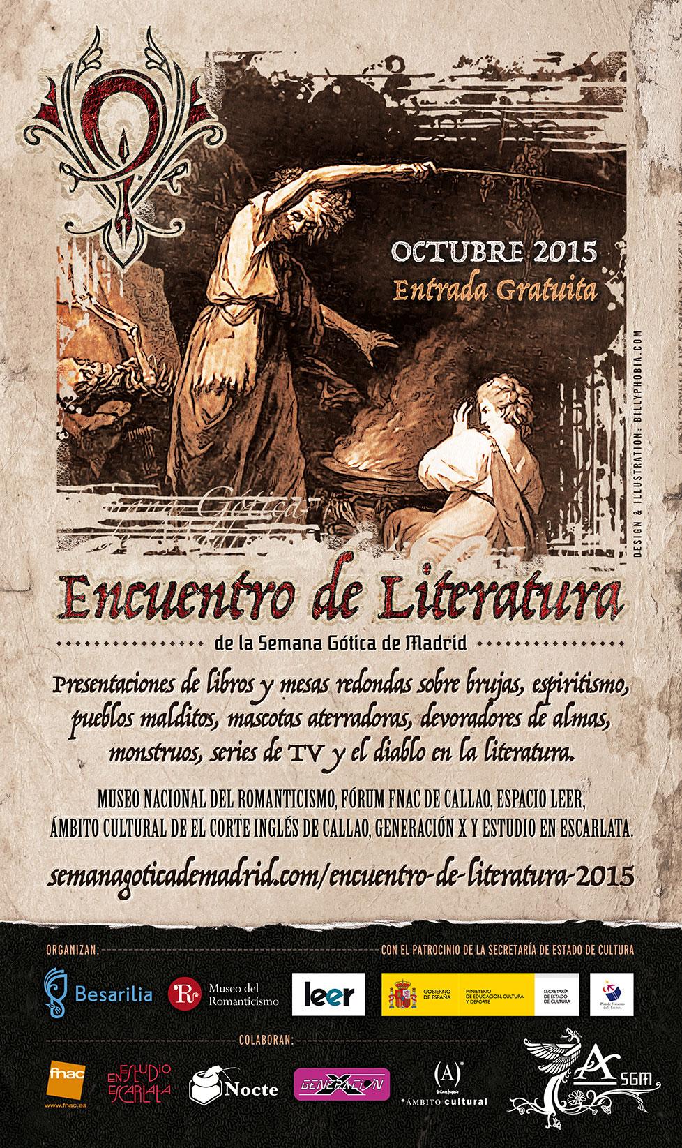 VII Encuentro de Literatura de la Semana Gótica de Madrid