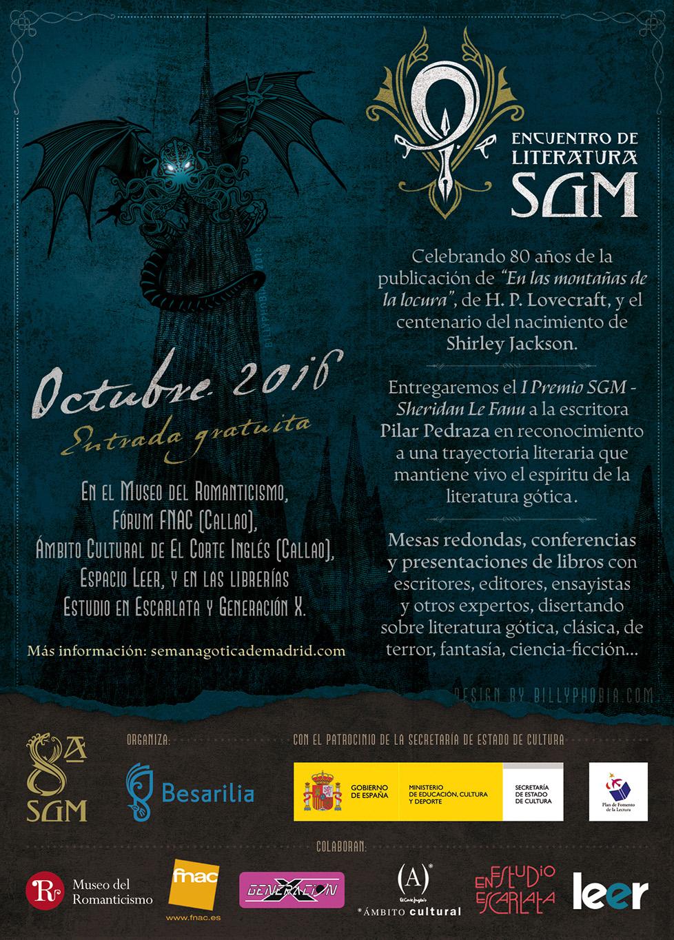 Encuentro de Literatura 2016 - VIII Semana Gótica de Madrid