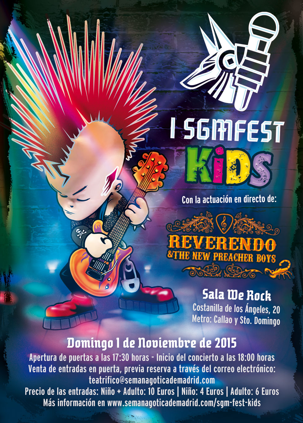 SGM FEST KIDS 2015 - I Edition of Semana Gótica de Madrid Festival For Kids
