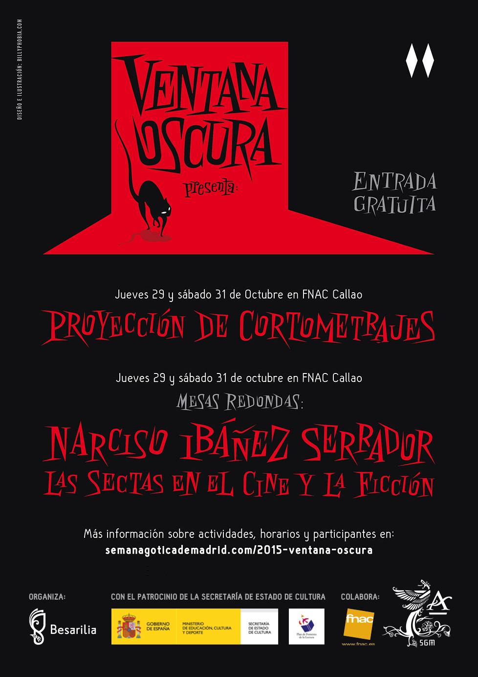 VII Edición de la Ventana Oscura. Muestra de cortometrajes de la Semana Gótica de Madrid