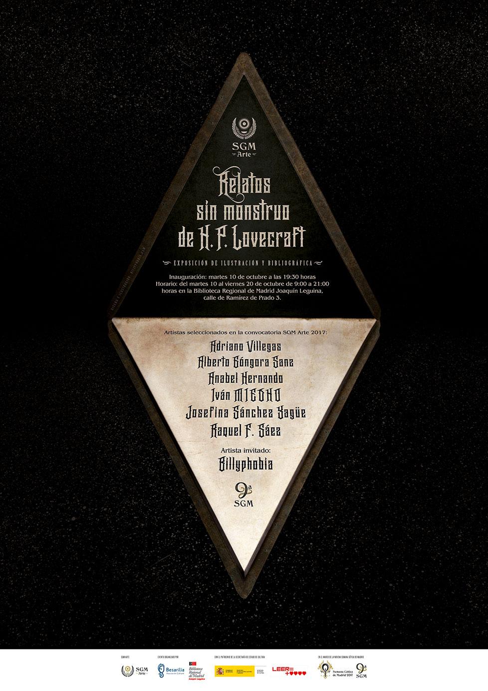 SGM Arte - 9ª Semana Gótica de Madrid - Cartel de Billyphobia © 2017