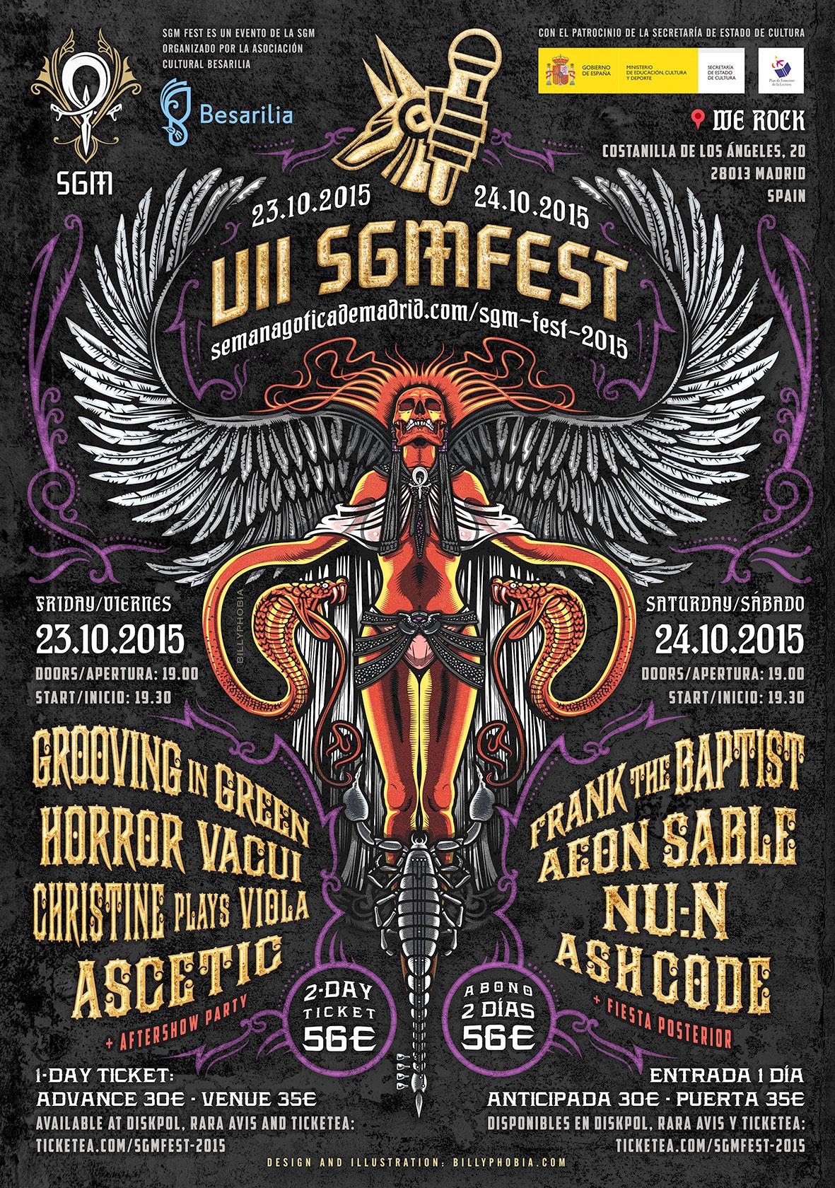 SGM FEST 2015 - VII Edition of Semana Gótica de Madrid Festival